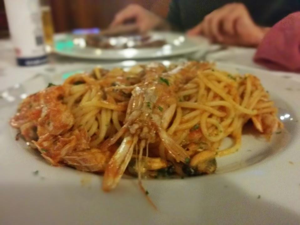 spaghetti canocchie